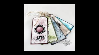 5 Christmas gift tags - one Visible Image stamp set