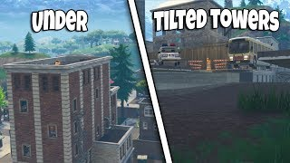 HOW TO GET UNDER THE MAP TILTED TOWERS v4.5 PATCH | FORTNITE BR GLITCH