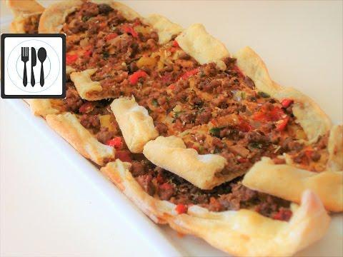 видео: Пиде с мясом - Турецкая Пицца с начинкой. Турецкая лепешка с начинкой. Рецепт Пиде.