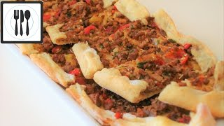 Пиде с мясом - Турецкая Пицца с начинкой. Турецкая лепешка с начинкой. Рецепт Пиде.(Очень вкусная пицца с мясом. Простой рецепт - Пиде с мясом - Турецкая Пицца по-Домашнему, или турецкий пирог..., 2017-01-08T13:03:12.000Z)