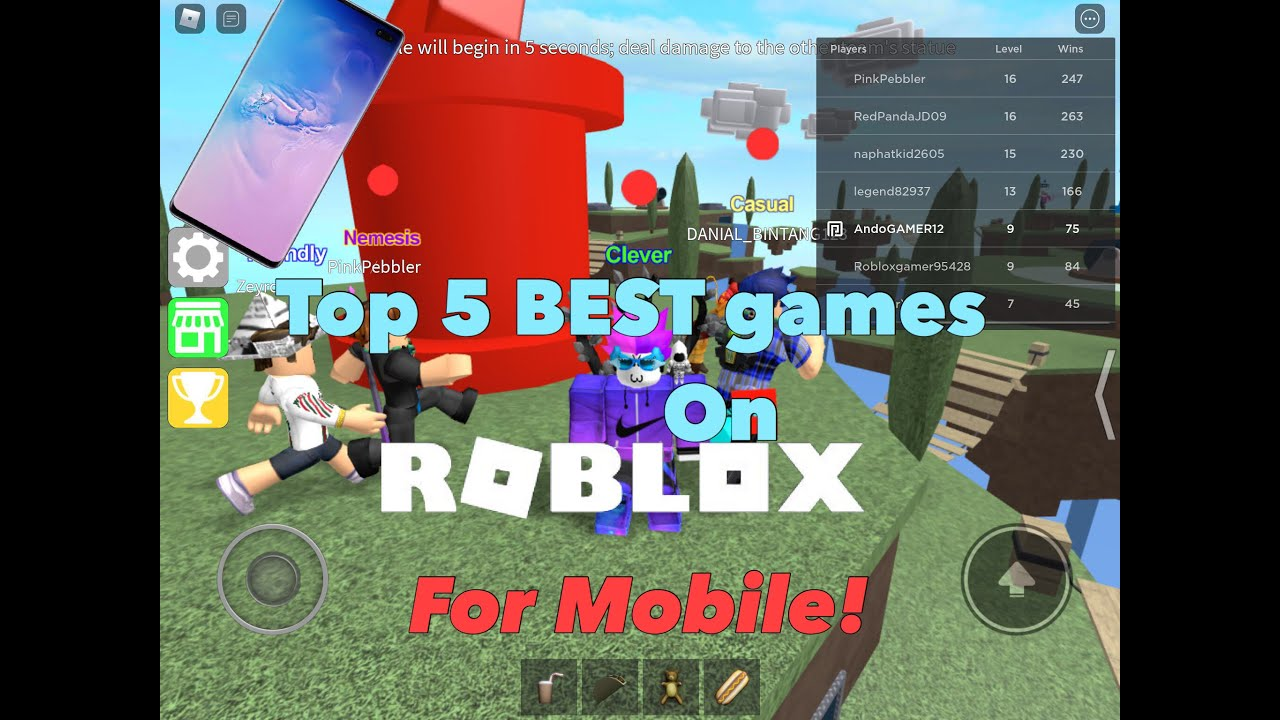 Top 5 Best Roblox Games For Mobile 2020 Youtube