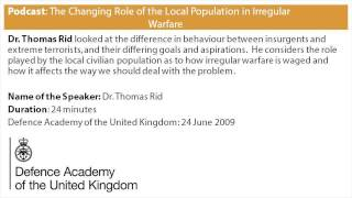 Podcast: The Changing Role of the Local Population in Irregular Warfare