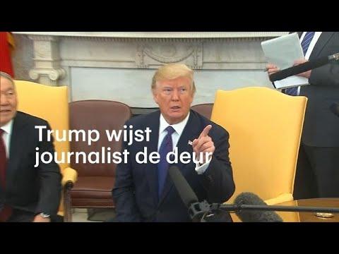 Trump wijst journalist de deur: 'Out!' - RTL NIEUWS