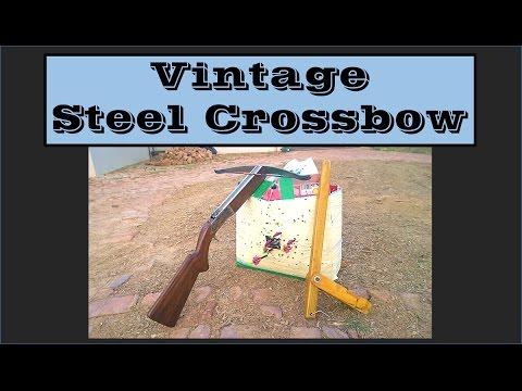 Vintage Crossbow, Homemade (Popular mechanics, 1944)