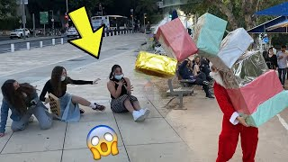 Falling Boxes Prank Christmas Edition - Craziest Reactions!