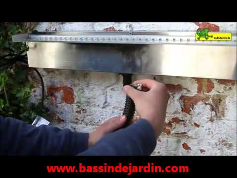 installer une lame d'eau niagara ubbink - youtube