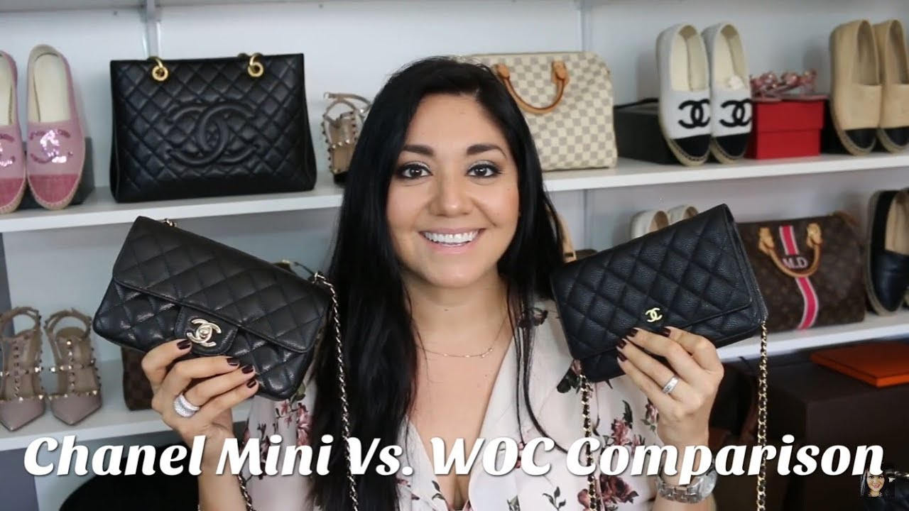 e2b35f94c2ad Chanel Mini Rectangular Flap Vs. WOC Comparison