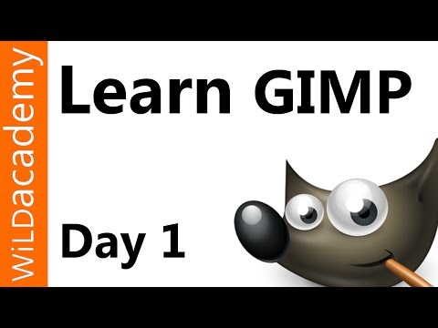 Learn GIMP Tutorial - Day 1 - Size Crop Rotate and Flip