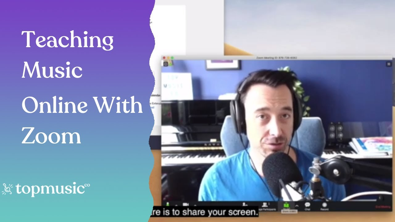 How to setup and use Zoom for online music lessons