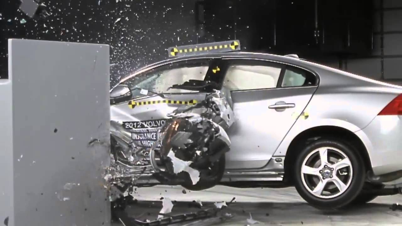 Volvo S60 T5 >> 2012 IIHS's new overlap frontal crash test : Volvo S60 T5 - YouTube