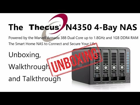Unboxing the £180 4-Bay Thecus N4350 Cost Effective DDR4 and Dual Core 4-Bay NAS Video
