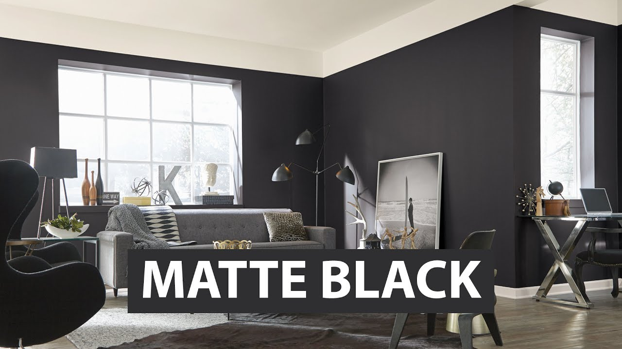 Colors we love matte black sherwin williams youtube for What paint finish for living room
