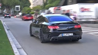 BRABUS 850 6.0 BiTurbo V8 S63 AMG COUPE - BRUTAL EXHAUST SOUNDS!