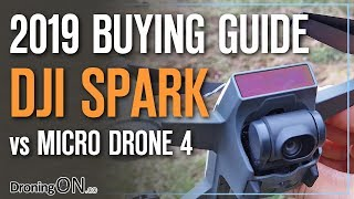 DJI Spark vs Micro Drone 4 (Crowd-fund Drone) - Which To Buy?