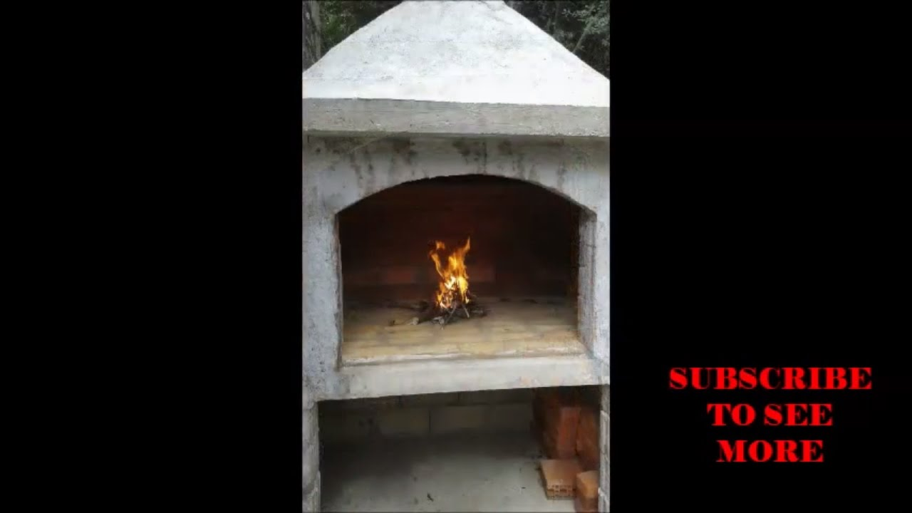 diy how to build an outdoor fireplace youtube