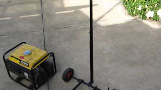 Make a portable generator trolley - generator cart