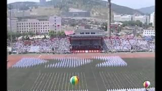 大连海事大学百年校庆学生变形方阵表演