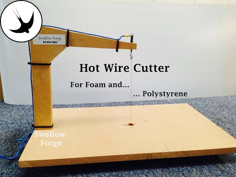 How to make a Hot Wire Cutter for foam or polystyrene- styro slicer - cosplay, lost foam casting etc