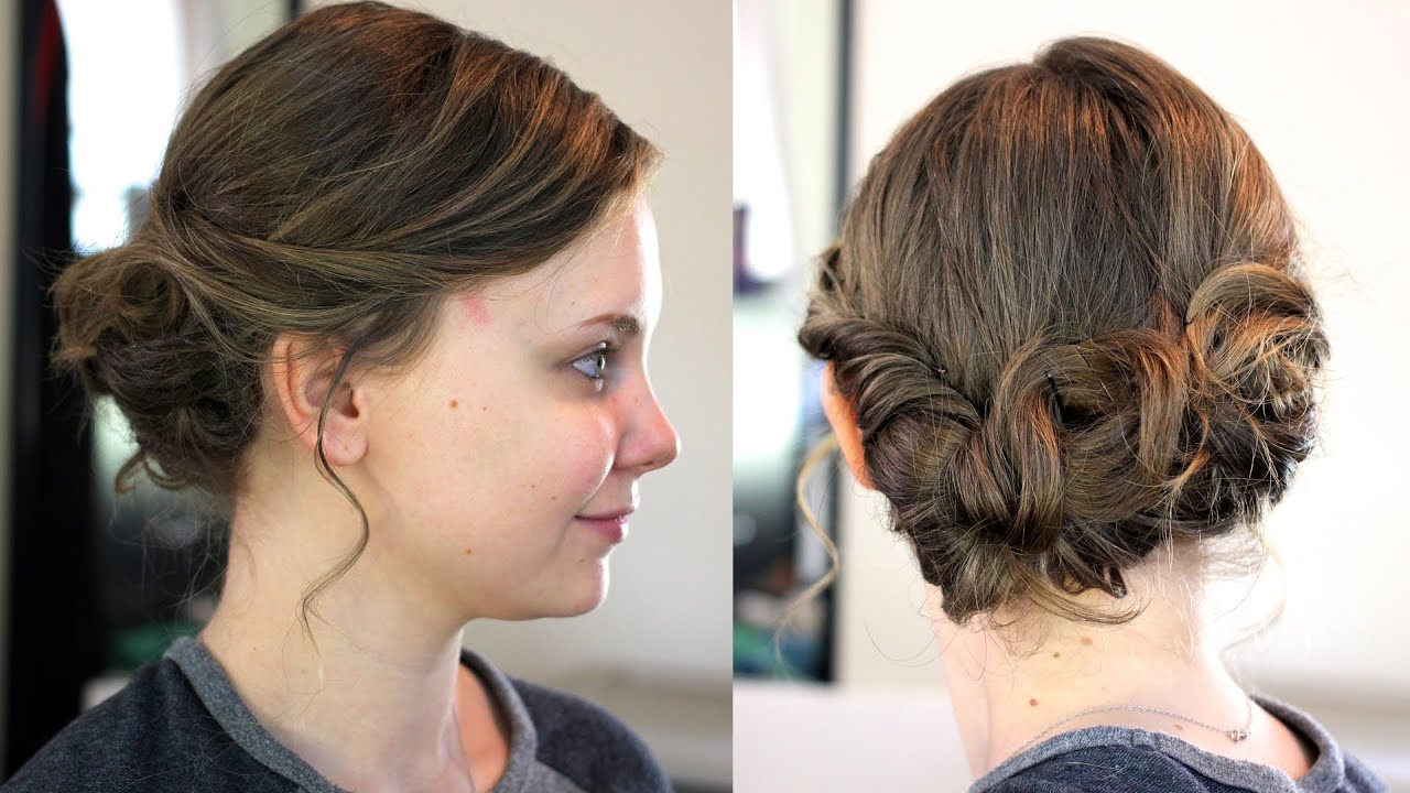 easy updo medium shoulder length
