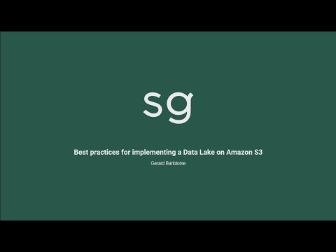 AWS re:Invent 2019: Implementing a data lake on Amazon S3 ft. Sweetgreen (STG359-R)