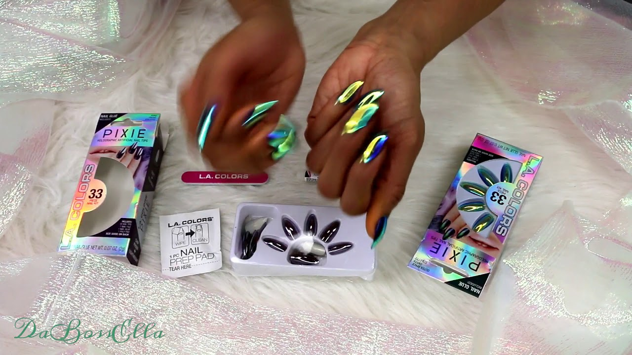 DIY: $5 Holographic Nails L.A. COLORS 💅 - YouTube