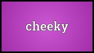 Cheeky Meaning
