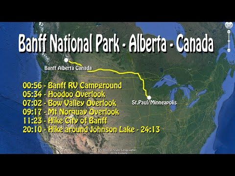 Banff RV Tunnel Mt Campground-Hoodoos-Mt Norquay-hike Johnson Lake