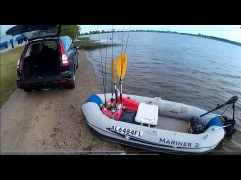 Intex Mariner 3 Inflatable Boat - Setup Process + (Surprise Ending!)