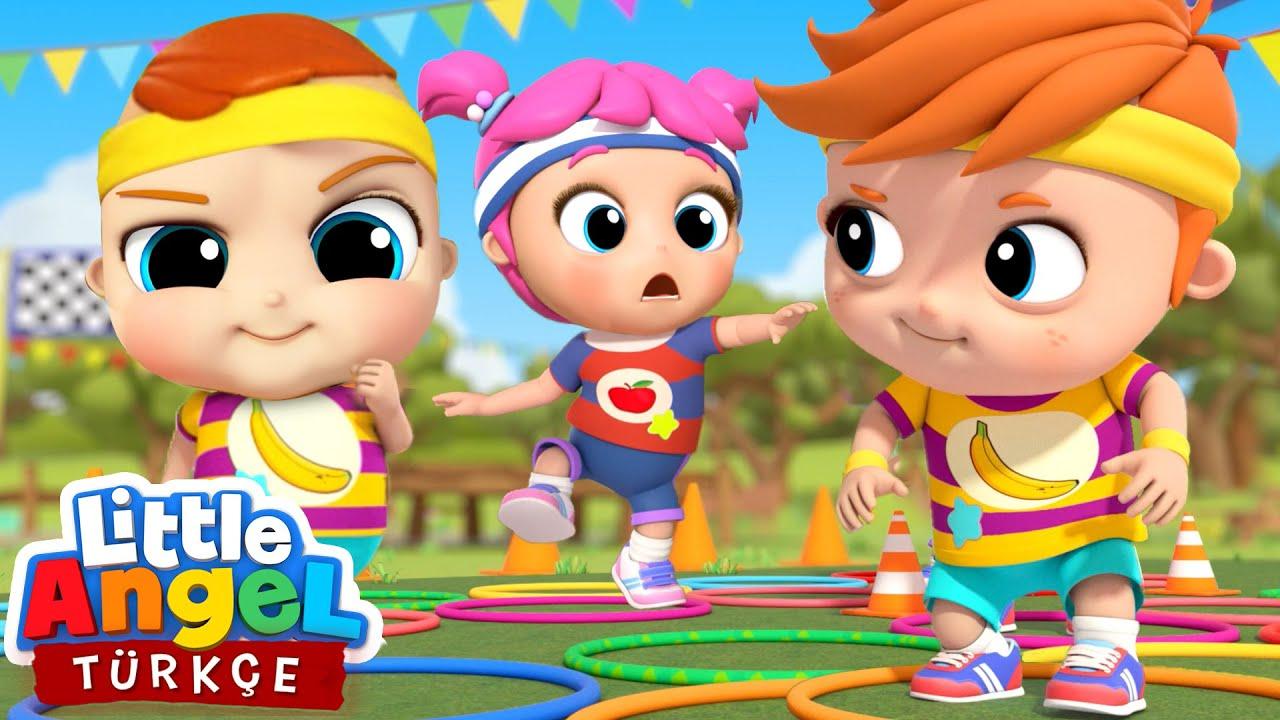 Can Bebek, Yarışmayı Kim Kazanacak 🍎🍌| Eğlenceli Ve Öğretici Çocuk Şarkıları | Little Angel Türkçe