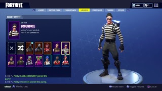 Fortnite playing with the Omega and new skin