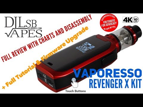 Vaporesso Revenger X Kit Full Review with Tutorial, Charts and Disassembly