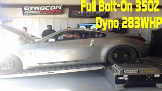 Full Bolt On Nissan 350Z Dyno 283 WHP