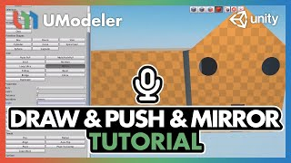 UModeler Tutorial  #2 - Drawing & PushPull & Mirror and more.