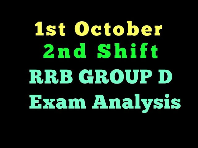 1st October 2nd Shift RRB group d exam analysis|2nd Shift ANALYSIS