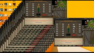 Playing Runescape on 20 accounts AT ONCE