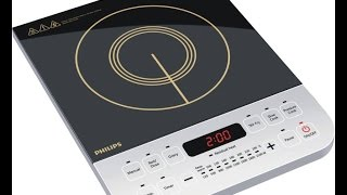 Philips HD492801 Induction Cooktop Black, Push Button Unboxing