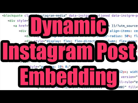 📸 Embed Instagram Posts On Your Website - How To Embed ANY Public Post Using HTML