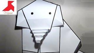Как сделать оригами СЛОНА из бумаги А4 своими руками?