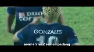 gokil gonzales cetak 5 gol arema vs semen padang semifinal piala presiden 2017