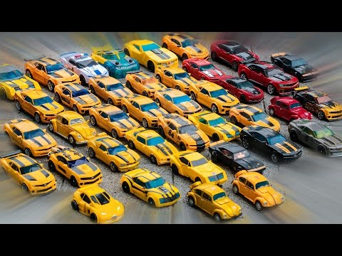 Transformers Yellow Red Black Colors Bumblebee Cliffjumper Stinger Police 40 Vehicles Robot Car Toys