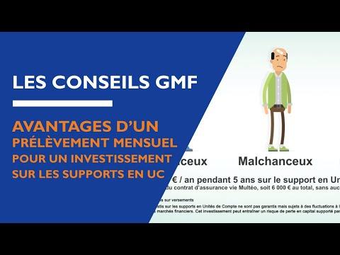 GMF – Les avantages d'un prélèvement mensuel pour un investissement sur les supports en UC
