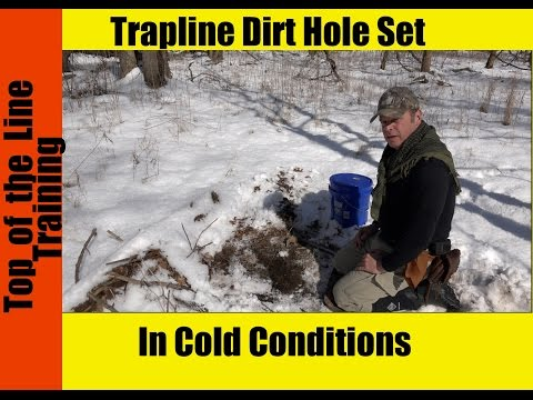 Dirt Hole Set Very Cold Conditions
