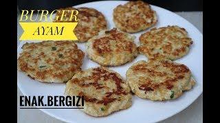 RESEP CARA MEMBUAT CHICKEN BURGER //  harga rumahan rasa restaurant , enak ,lezat,bergizi