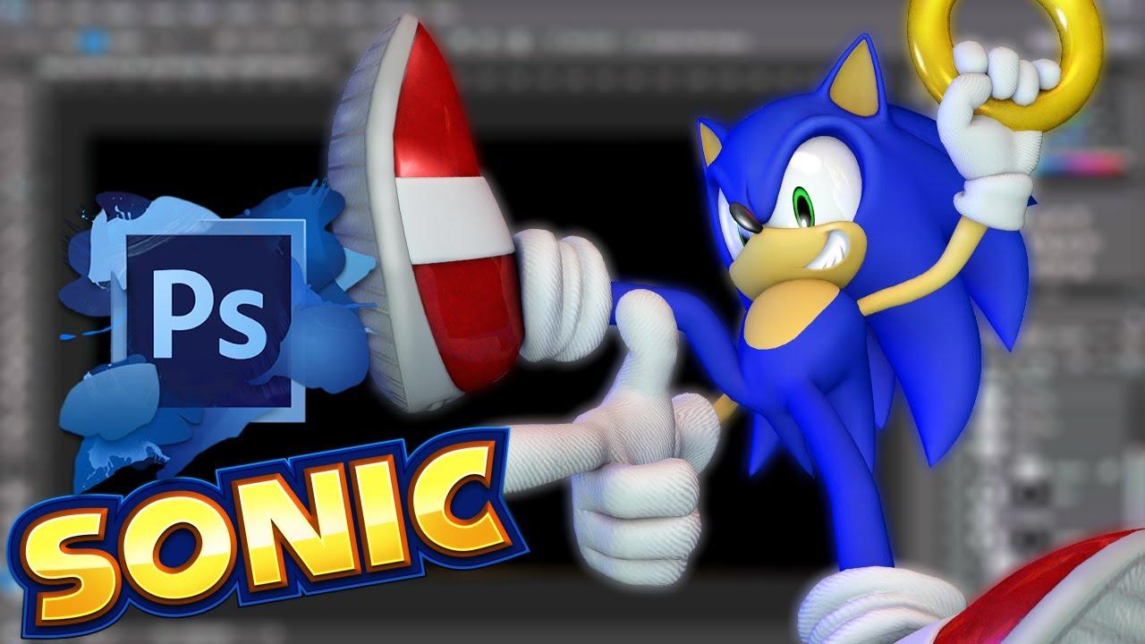 How To Make A Sonic The Hedgehog Logo Live Youtube