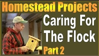 Homestead Projects. How To Build Bird Houses - Caring For The Flock Part 2