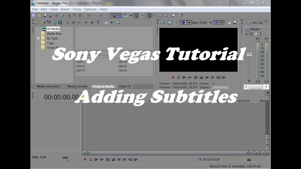 How to add subtitles in sony vegas pro tutorial youtube ccuart Images
