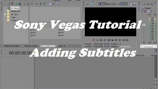 How to Add Subtitles in Sony Vegas Pro (Tutorial)(Hi! In this video i'll be showing you a tutorial on how to add subtitles in Sony Vegas Pro 12, Hope this video is helpful Thanks for Watching If you haven't ..., 2013-08-02T16:06:42.000Z)