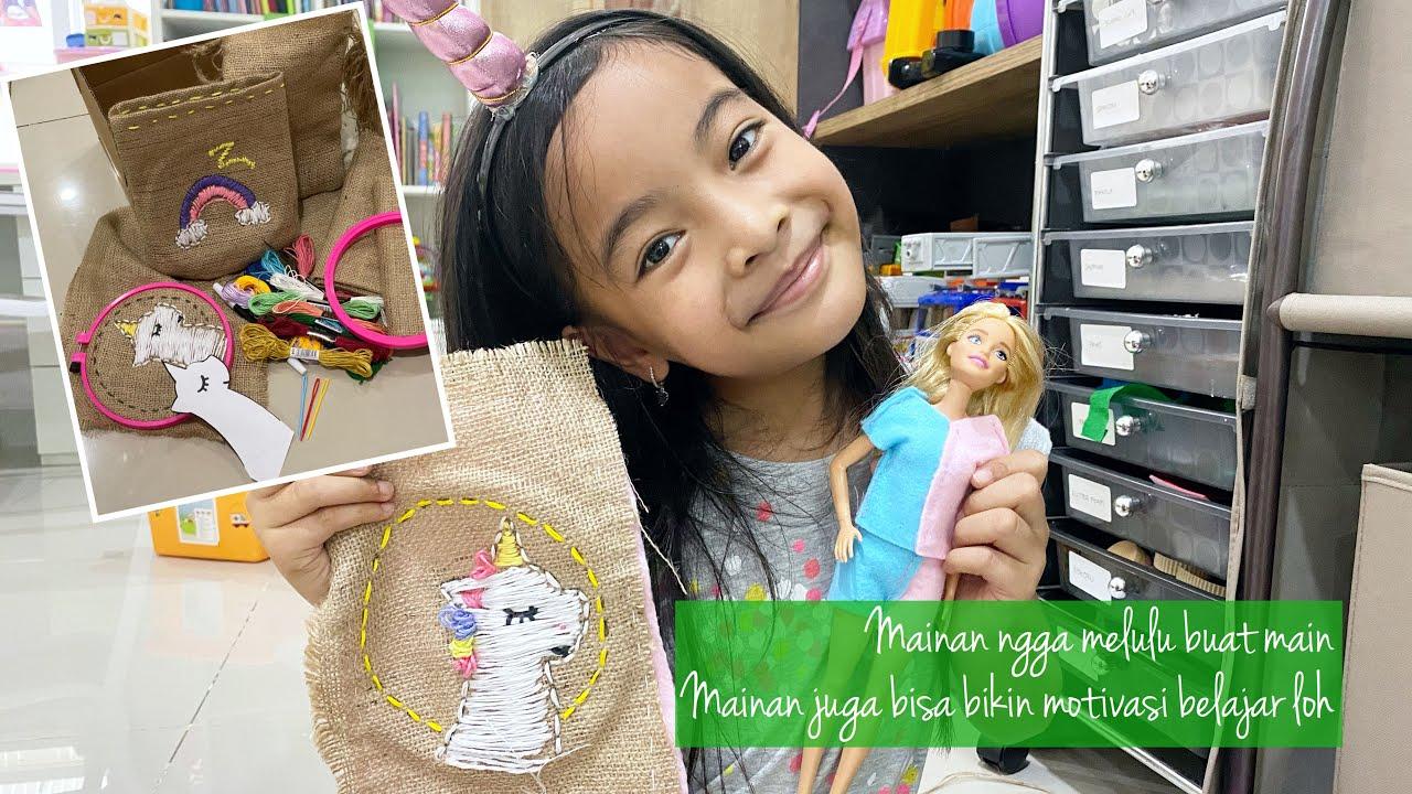 Motivasi Belajar di Rumah Zara Cute   Belajar Sulam untuk Anak   Kegiatan Anak Indonesia