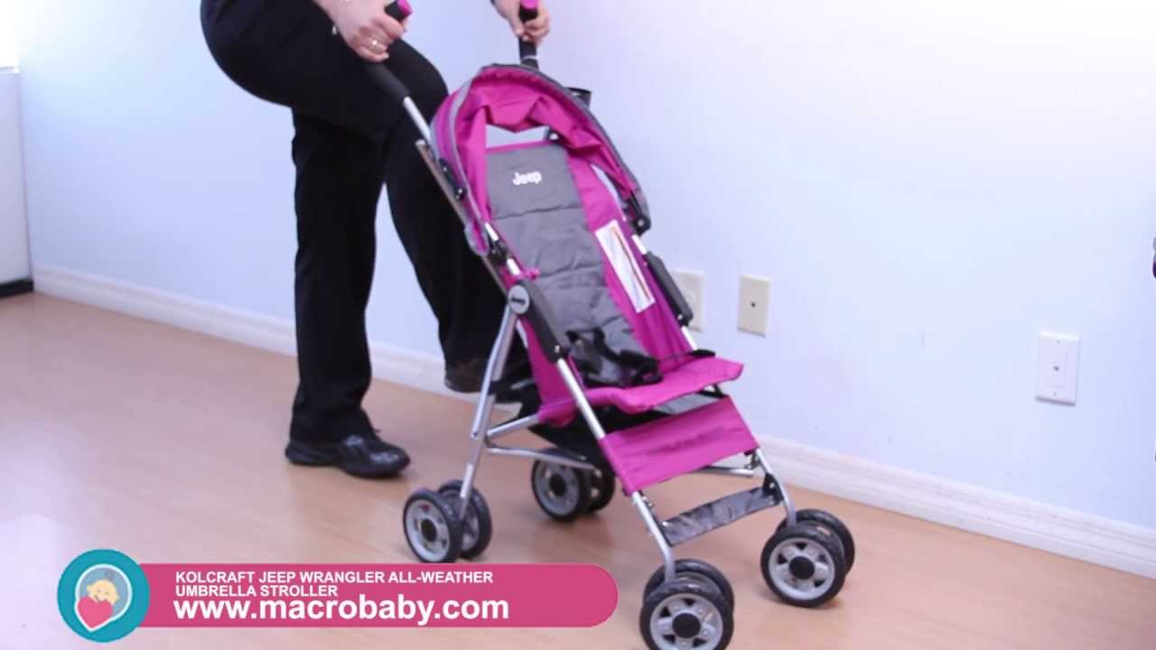 macrobaby - jeep wrangler all weather umbrella stroller - youtube
