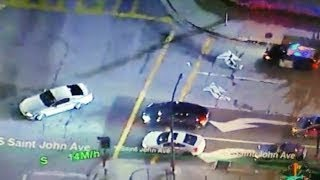 Los Angeles Police Chase stolen Mustang (March 30, 2017)